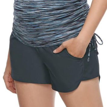 LMFPL3 Maternity a:glow Fully Belly Panel Running Shorts