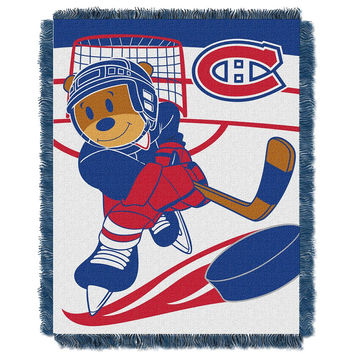 Montreal Canadiens NHL Triple Woven Jacquard Throw (Score Baby Series) (36x48)