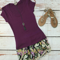 Aloha Shorts: Purple