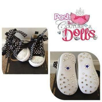 ICIKGQ8 posh princess couture bling custom converse infant booties
