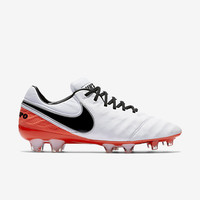 The Nike Tiempo Legend VI Women's Firm-Ground Soccer Cleat.