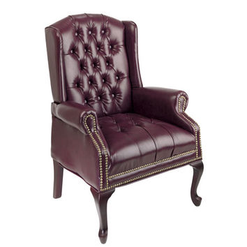 BELLACOR TEX234-JT4 Executive Mahogany Traditional Queen Anne Style Chair