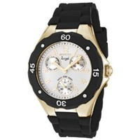 Invicta Angel Women's Quartz Watch with White Dial Chronograph Display and Black Rubber Strap 0717: Amazon.co.uk: Watches