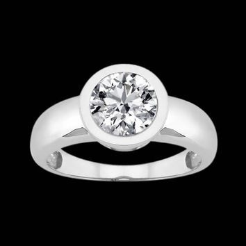Solitaire diamond royal engagement ring 2.5 cts.