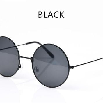 Kaleidoscope Round Metal Frame Sunglasses Men's Women's Novelty