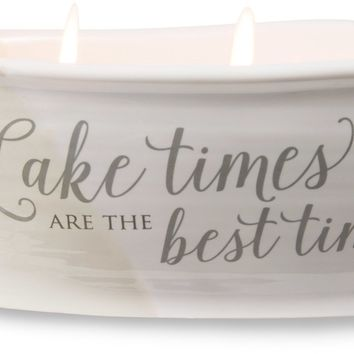 Lake times are the best times Triple Wick Soy Wax Candle Scent: Tranquility