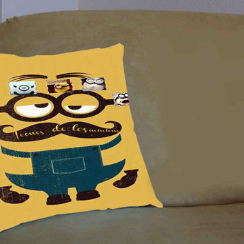 despicable me minions banana - Pillow Case, Pillow Cover, Custom Pillow Case **