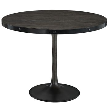 "Drive 40"" Round Wood Top Dining Table Black EEI-1197-BLK-SET"