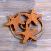Starfish Kitchen Trivet Beach Ocean Sea Decor Cork Jute Protect Countertop Table