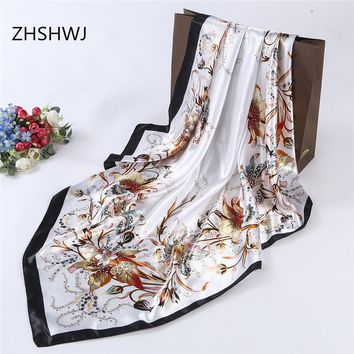 Free Shipping - Gorgeous silk scarf Women's Decorative Shawl For Work Or Evening