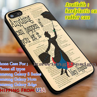 Anything Can Happen Mary Poppins Quote iPhone 6s 6 6s+ 6plus Cases Samsung Galaxy s5 s6 Edge+ NOTE 5 4 3 #cartoon #animated #disney #MaryPoppins dl3