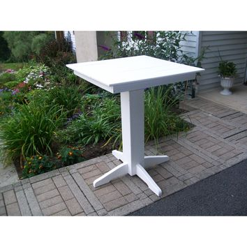 """A & L Furniture Recycled Plastic 33"""" Square Bar Table  - Ships FREE in 5-7 Business days"""
