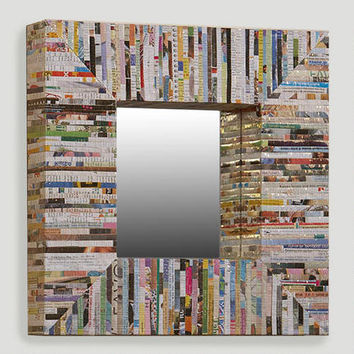 Recycled Magazine Square Mirror | World Market