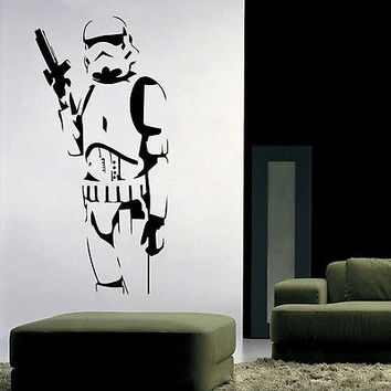 shop stormtrooper decal on wanelo star wars darth vader wallsticker fra kun 399 kr