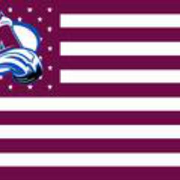 NHL Colorado Avalanche Flag 3x5 FT 100D Polyester flag free shipping