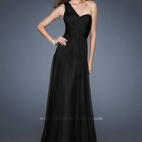 La Femme 18466 One Shoulder Gown Website Special