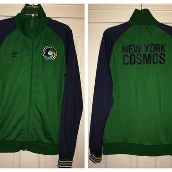 Sale!! Vintage Umbro New York Cosmos USA Soccer Jacket MLS Jersey Football Shirt Pele