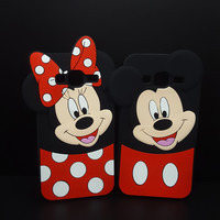 3D Cartoon Mickey Minnie Mouse Soft Silicone Case For Samsung GALAXY J1 mini J1 J3 A3 2016/J3 2015/J120/J310/J320/J320F Cover