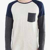 Koto Daimyo Blocked Long-Sleeve Raglan Tee