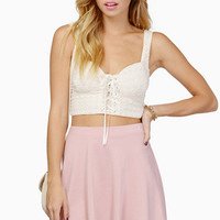 Eyelet It Go Crop Top $44