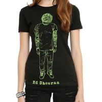 Ed Sheeran Drawn Girls T-Shirt