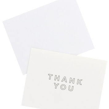 Outlined Thank You Card Set