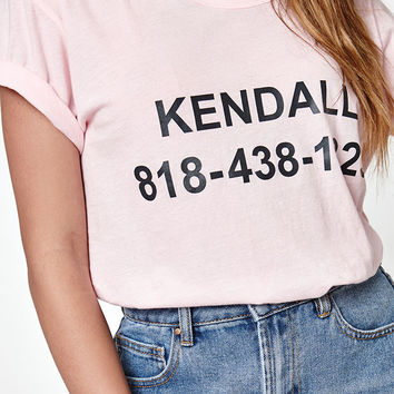 Kendall and Kylie Graphic Front T-Shirt at PacSun.com