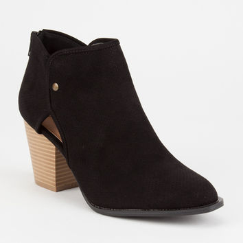 QUPID Perforated Window Womens Booties | Boots + Booties