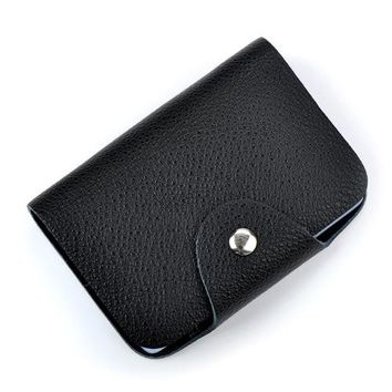 26 Slots Genuine Leather Women Men ID Card Holder Card Wallet Purse Credit Card Business Card Holder Protector Organizer
