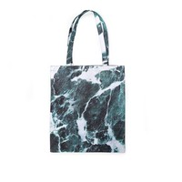 Minimal Green Marble Tote Bag