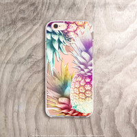 iPhone 6s Case Pineapple iPhone 6 Case Clear Summer iPhone Cases iPhone 6s Plus Case Transparent Samsung Galaxy Note 5 Case Pineapple Crush