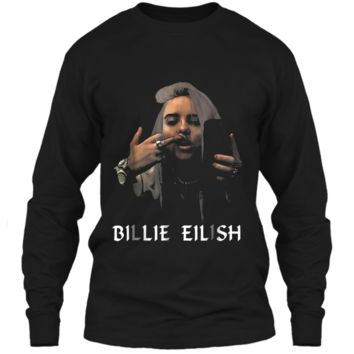 Christmas Fun Billie-Lover-Eilish-Music- Fan Cool Gift LS Ultra Cotton Tshirt