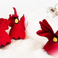 Tree Ornament Red Cardinal - Stocking Stuffer