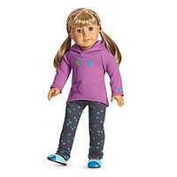 American Girl® Clothing: Starry Hoodie Outfit for Dolls + Charm