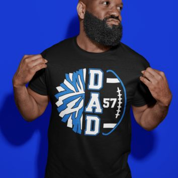 Men's Personalized Cheer Dad T Shirt Custom Football Shirts Cheer T Shirt Personalized Team Football Shirts