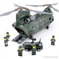 Chinook Army Helicopter - Lego Compatible Toy