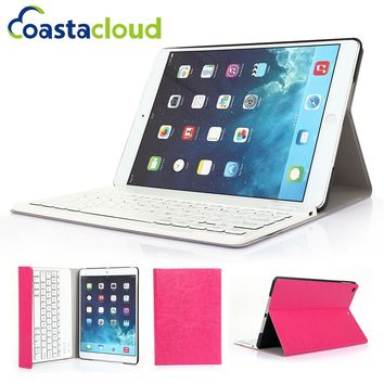 2 in 1 Folding Fully Leather Smart Case Stand Cover With Removable Wireless Bluetooth Keyboard for Apple iPad Air 1