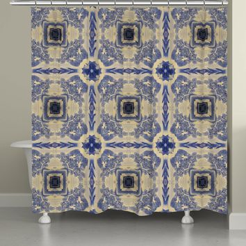 Blue China Revisited Shower Curtain
