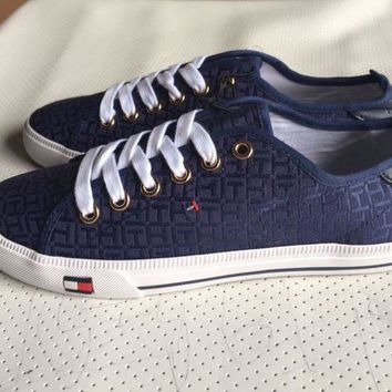 ONETOW Tommy Hilfiger' Fashion Canvas Flats Sneakers Sport Shoes
