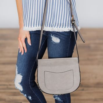 Pretty Little Crossbody Purse - Light Smoke