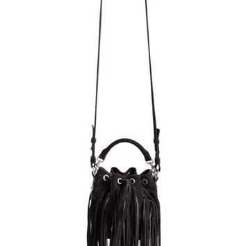 ysl bags online - yves saint laurent emmanuelle small fringed camouflage-print suede ...