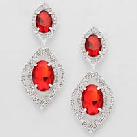 Rita Crystal Double Oval Earrings