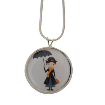 Mary Poppins Necklace, Mary Poppins jewelry, Nanny, Pendant Necklace, movies, Mary Poppins necklace, necklaces for women, gifts for her