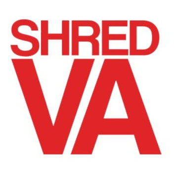 Shred Stickers Shred Va Red 5 inch x4 inch