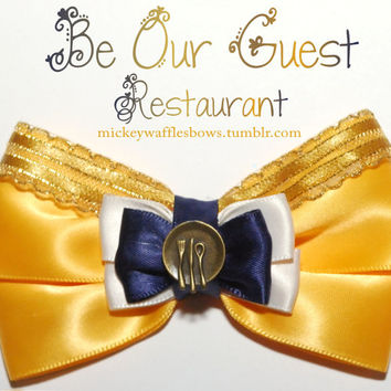 Be Our Guest Restaurant Hair Bow
