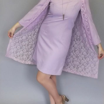 The Priscilla Presley Dress Vintage 1960s 70s Mod Lilac Purple Mini Cocktail Dress Hippie Short Shift Dress Bell Sleeves Groovy Size Small