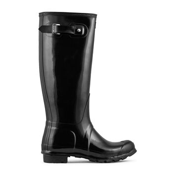 Hunter Original Tall Rain Boot Women's - Black Gloss