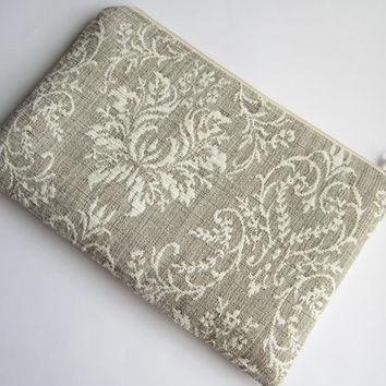 Damask MacBook 11 sleeve with zipper, MacBook Air 11 sleeve, MacBook Air 11 case, MacBook Air 11 Cover, Laptop Sleeve, MacBook case