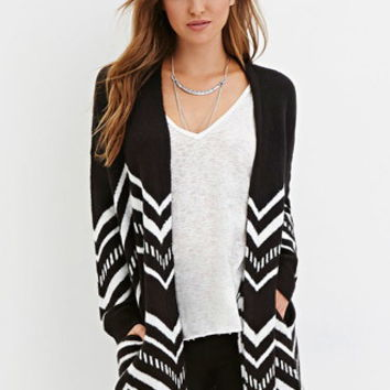 Longline Tribal-Inspired Cardigan