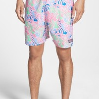 Men's Vineyard Vines 'Chappy - Tropical Leaves' Swim Trunks,